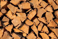 Firewood. Stack of firewood, close up stock photos
