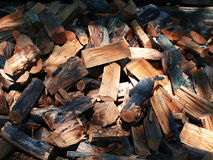 Firewood. Large pile of firewood for barbecues and picnics on the nature royalty free stock photo