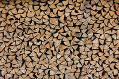 Firewood. Background made of cumulate firewood close up royalty free stock photo