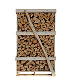 Firewood. Tower With white background Stock Photography
