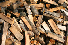 Firewood. Pile of firewood Royalty Free Stock Image
