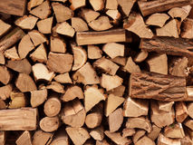 Firewood. Pile of firewood for heating Royalty Free Stock Photography