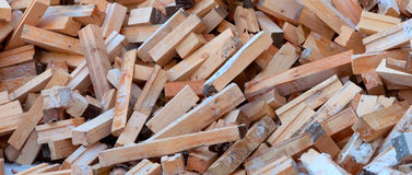 Firewood. In the snow scattered haphazardly Royalty Free Stock Image