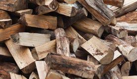 Firewood. A Heap Firewood close up shot Stock Photography