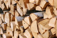 Firewood. Image about a pile of birch firewood Royalty Free Stock Photo