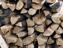 Firewood. A fresh big stack of firewood Stock Photo
