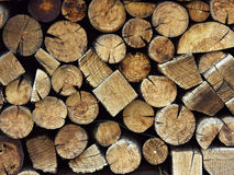 Firewood. A fresh big stack of firewood Royalty Free Stock Image