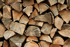 Firewood. A pile of chopped firewood Royalty Free Stock Photos