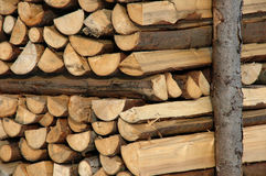 Firewood. Well done Royalty Free Stock Photo