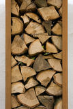 Firewood. Nice stack of firewood, close-up view Royalty Free Stock Photography