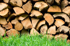 Firewood. Fire woods on the grass Royalty Free Stock Photos