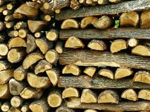 Firewood. Stack of firewood Royalty Free Stock Photo