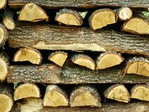 Firewood. The firewood supply for the winter Stock Photo