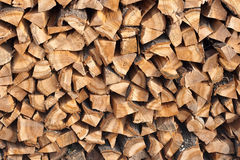 Firewood. Fire wood combined in a woodpile Stock Images