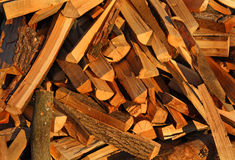 Firewood. Chopped firewood for the background Royalty Free Stock Photos