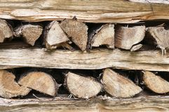 Firewood. Abstract background of a stack of firewood Royalty Free Stock Photography