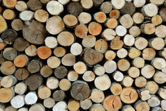 Firewood alpine winters for background Royalty Free Stock Photo