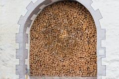 Firewood as artwork Royalty Free Stock Image
