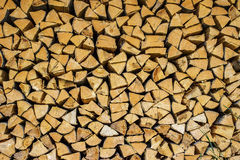 Firewood as a background Stock Image