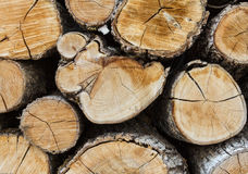 Firewood Background Closeup Royalty Free Stock Photos