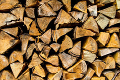 Firewood background. Pile of firewood for winter season, background Stock Photos