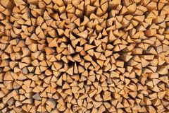 Pine timber. firewood background Stock Images