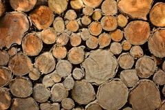 Firewood background, stock wood logs Royalty Free Stock Images