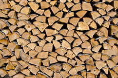Firewood background and texture Stock Photo