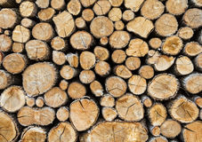 Firewood Background Stock Photography