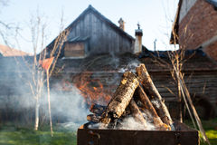 Firewood for bbq Royalty Free Stock Image