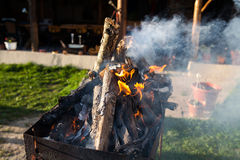 Firewood for bbq Stock Photography