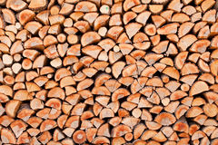 Firewood of birch wood Royalty Free Stock Image