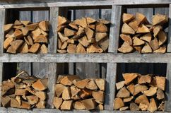 Firewood bundles Stock Photos