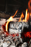 Firewood burning Stock Images