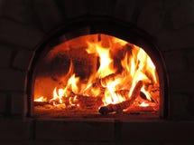 Firewood burning Royalty Free Stock Photos