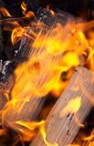 Firewood burning Stock Photos