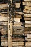 Firewood and Chain Stock Images