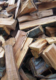 Firewood chipped of fruit trees Stock Photos