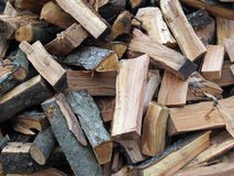 Firewood chipped of fruit trees Royalty Free Stock Images