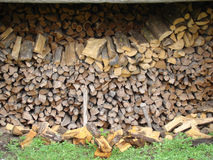Firewood. Chopped,folded. for heating furnace in the winter Royalty Free Stock Image