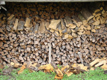 Firewood. Chopped,folded. for heating furnace in the winter Stock Photography