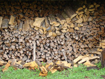 Firewood. Chopped,folded. for heating furnace in the winter Stock Photo