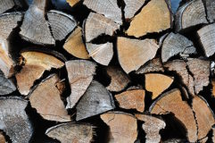 Firewood closeup. Firewood storage for heating oven Royalty Free Stock Photography