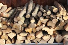 Firewood for cooking on the grill royalty free stock image