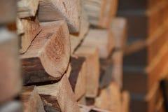 Firewood fireplace Stock Photo