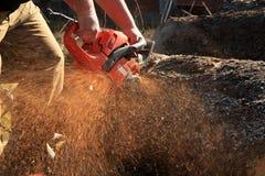 Firewood Cut Royalty Free Stock Photos