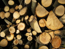 Firewood. Cut, split, stacked, and ready to burn Royalty Free Stock Photography