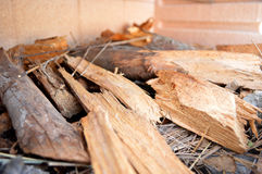 Firewood cut-up Royalty Free Stock Images