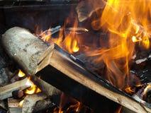 Firewood detail Royalty Free Stock Image