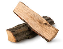 Firewood. Dry firewood isolated on a white background Stock Photos